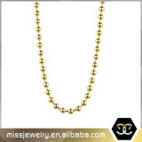 Handmade or 18K de la chaîne à billes en acier inoxydable de métal Necklace Mjcn030
