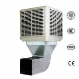 Крыша и стены и окна/канал установлен кондиционер промышленного охладителя нагнетаемого воздуха при испарении
