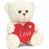 Adorável Ursinho dos Namorados de pelúcia com coração