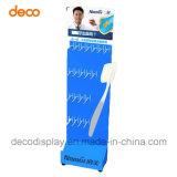Supermercado Floor-Standing ganchos de cartón de unidad de visualización para el cepillo de dientes
