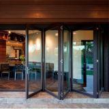 Дверь двери складчатости 12mm Frameless стеклянная сползая Bi-Fold дверь