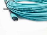 De Kabel Optische MPO of MTP 12 Vezel Om3 SC/PC Qsfp Qsfp28 van de vezel