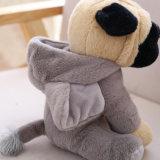 Peluche molle lanuginosa di seduta sveglia del giocattolo del cane animale del Pug