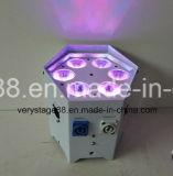IRC-nachladbare Batterie-&Wireless Partei DJ 6PCS x 18W Rgbwauv DMX LED NENNWERT Licht