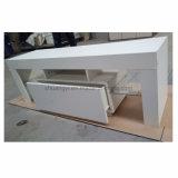 Soporte de televisor LED madera mueble con vitrina