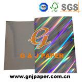Задняя часть серого цвета Hologram металлизированная переходом бумажная для упаковывать