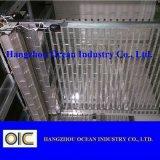 Cilindro PC cristal porta do obturador Transparement deslocável de policarbonato de porta a porta do obturador