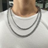 Collar de diamante plateado oro largo de los hombres 24K del acero inoxidable