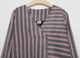 Striped neue Form 2018 Dame-langes Hülsen-Kleid für Herbst
