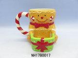 عيد ميلاد المسيح [كفّ موغ] زخرفيّة خزفيّة مع غطاء