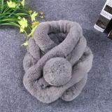 Sciarpa calda della pelliccia del coniglio di inverno delle donne