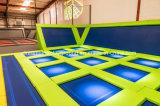 Парки Trampolin новой конструкции самомоднейшие, кровать Trampolin скача с сетью безопасности