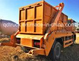 carro de basura del cargador del salto de la descarga rodada 10-15m3