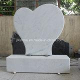 Grafsteen van het Hart van het Zinkwit de Marmeren Enige