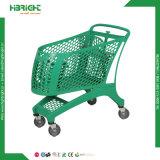 Chariot de magasinage en plastique pour les magasins et supermarchés