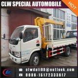 트럭 거치된 기중기 2 톤, 4*2 작은 트럭 기중기, 최신 판매를 위한 중국에서 고품질을%s 가진 이동 크레인