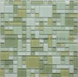 Prix bon marché de couleur verte dosseret en mosaïque de verre multi taille Tile