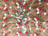 Tessuto variopinto del merletto del ricamo di nuovo disegno su ordinazione 2017 con il Sequin per il vestito