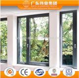 Aluminio Suupplier chino Casement ventana con sistema aislado térmica