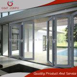 Alluminio che piega il portello di alluminio del patio dei doppi portelli di vetro Bi-Fold