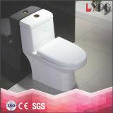 Fábrica de Chaozhou cuarto de baño Sanitarios de una pieza de cerámica wc Pan S atrapar remolino Siphonic Flush Wc wc