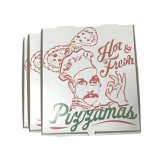 بيضاء حاكّة طازج يغضّن ورقيّة بيتزا يعبر صندوق