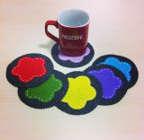 Novo Estilo 100% sentida Coasters para chávenas decorações && Pad sentida Coasters
