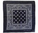 I prodotti della fabbrica della Cina hanno personalizzato il Bandanna bianco panna di Headwrap del cotone di Paisley della stampa di marchio