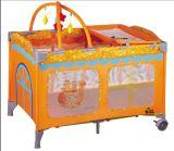 高品質の鋼鉄管フレーム携帯用旅行折畳み式ベッドの赤ん坊Playard
