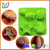 На заводе продажа квадратных очаровательный силиконового герметика форме животных конфеты шоколад пресс-формы
