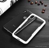 iPhone Xのための明確なパソコンの背部ガラス状のケース