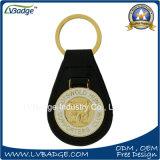 Het Leer Keychain van het Metaal van het Embleem van de douane