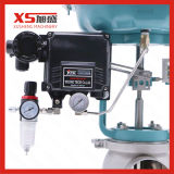 Medidas sanitarias membrana neumática Válvula de control con posicionador