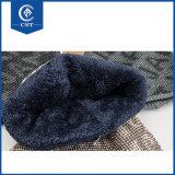 Beanies para o chapéu forrado a pele de lãs do russo do inverno dos homens dos indivíduos