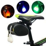 Luz amonestadora de la bici del silicio de la seguridad de reserva impermeable de la bicicleta LED
