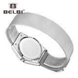 Belbi ultradünne Stahlmailand Marken-wasserdichte Quarz-Bewegungs-Frauen-Armbanduhr