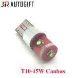 W5w 194のT10クリー族チップ3SMD 15W T10 3SMD LED球根ライト外部Canbusライト