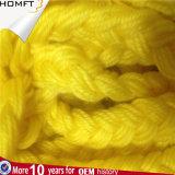 Cotton&#160 plat jaune ; Corde/cordon tressés de chaîne de caractères