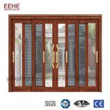 중국 공장 알루미늄 단면도 유리 미닫이 문