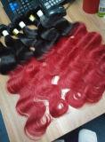 Цвет Ombre выдвижения волос объемной волны бразильских человеческих волос Remy сотка