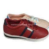 Отдых впрыски женщин высокого качества обувает фабрику ботинок PU (YJ1216-12)