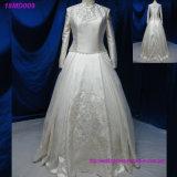 Arabische Muslimturkish Gelinlik Spitzeapplique-Ballkleid-islamische Brautkleider