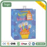 Geburtstag-Kuchen-Kerze-kleidende anwesende Andenken-Supermarkt-Geschenk-Papiertüten