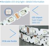 DC12V는 백색 5m 300LEDs 5050 S 모양 LED 지구를 데운다