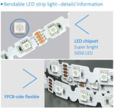 DC12Vは白5m 300LEDs 5050 Sの形LEDのストリップを暖める