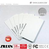 125kHz Chip de PVC em branco do cartão inteligente