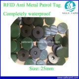 Etiqueta plástica circular vendedora caliente del epóxido RFID
