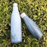 4 Größen-einfache moderne Wellen-Wasser-Flasche, wasserundurchlässiges Vakuum doppel-wandige Edelstahl-Isolierflasche