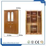 Guardaroba multifunzionale dell'armadio aperto di lusso classico di legno solido