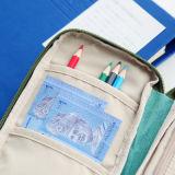 Bolsa grande simple del lápiz de la capacidad de la caja de lápiz de la cremallera de la lona de la tela del bolso de múltiples funciones del lápiz con el bolsillo de la tarjeta y del pasaporte